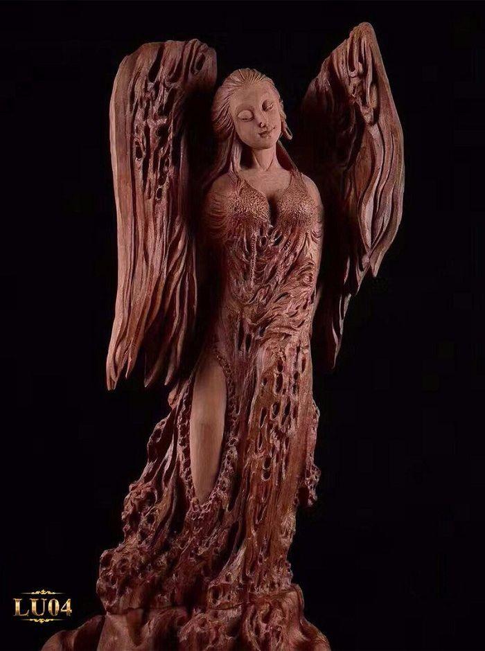 Vơi mẫu lũa hoàn toàn tự nhiên tạo nên bằng gỗ Đỏ có tác động nhẹ của bàn tay các nghệ nhân